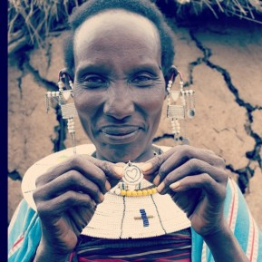 Massai woman with necklace